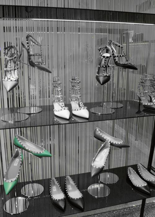 Valentino Kitten-Heel-Pumps Rockstud aus Leder
