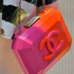 Chanel Tasche, Plastik, pink, orange