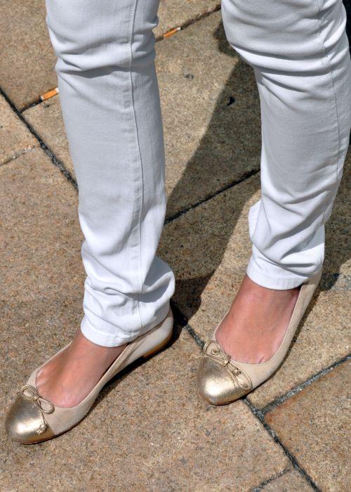 Claudia Obert Ballerinas, beige,gold