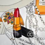 Coco Chanel Lippenstift, Armreifen, Bild, Druck