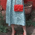 H&M Trend Medirock, weiß, blau, Sommerkollektion 2014, Fashionblogger