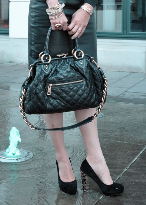 Marc Jacobs Stam bag, schwarz,gold