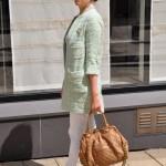 Zara Boucle-Mantel Mint, Saison 2014, Modeblogger