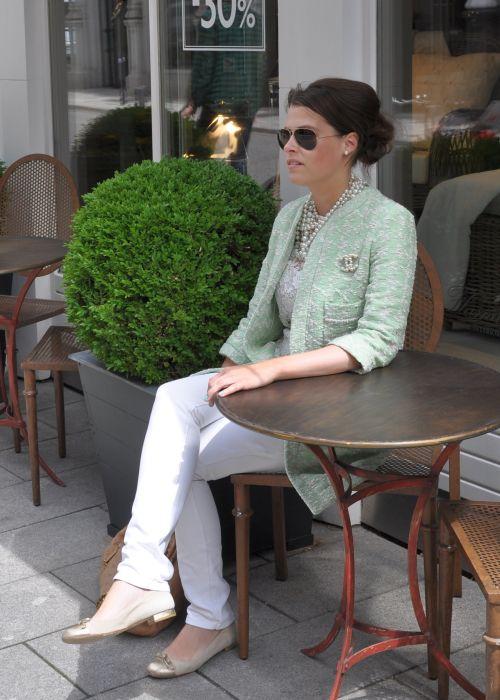 Zara Boucle-Mantel Mint, Saison 2014