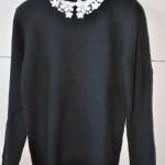 ASOS Pullover mit Blüten-Kragen