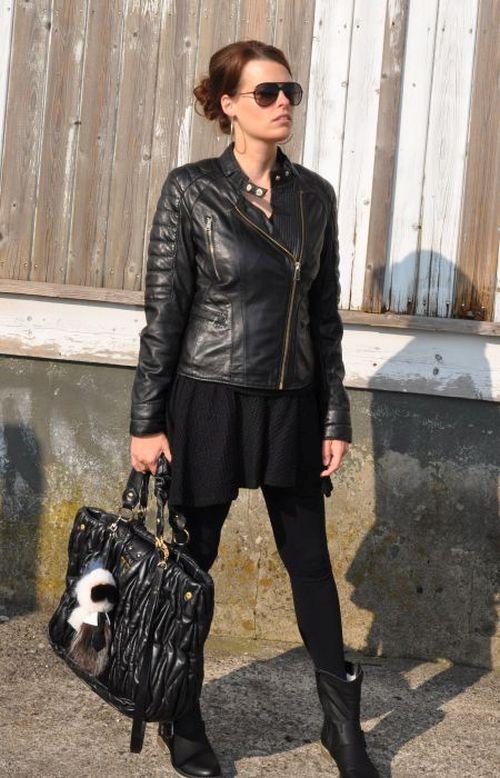 Oakwood Lederjacker, Fashionblogger Hamburg