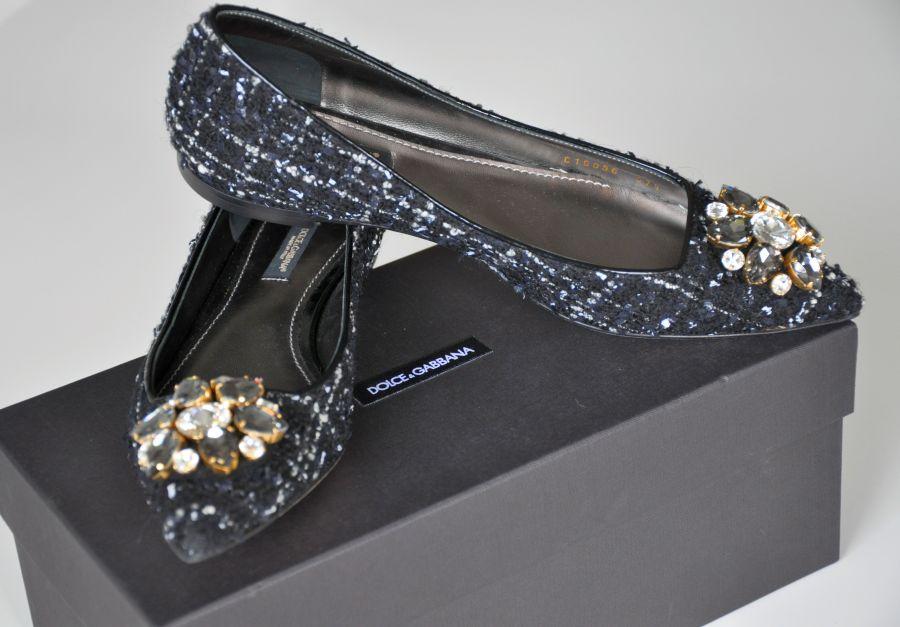 Dolce & Gabbana Bouclè-Ballerinas, Schuhe, Saisob 2014