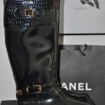 Gummistiefel mit Kroko-Schaft und goldener Schnalle via Stiefelparadies