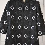H&M Trend Kurzmantel mit Steinchen, schwarz, weiß, Wintersaison 2014
