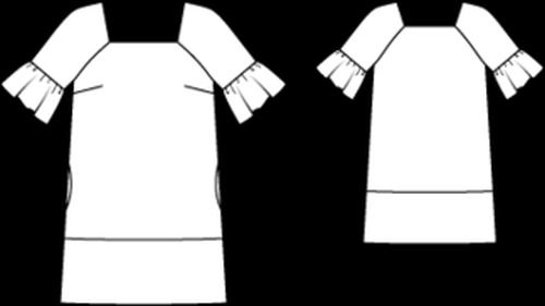 Retro kleid Schnittmuster