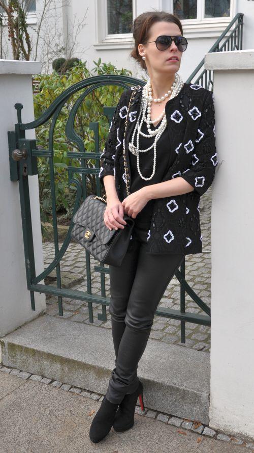 Perlenbestickte Jacke H&M Trend, Winter 2014, Fashionblogger, Fashionblog