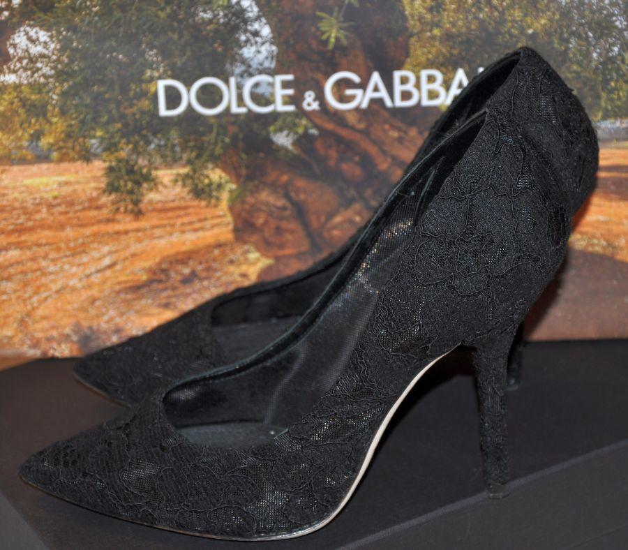 Dolce & Gabbana Pumps aus Spitze, schwarz, Winter Saison 2015, Fashionblogger