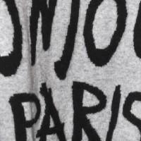 Miss Goodlife, Bonjour Paris Oversize Pullover, grau