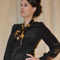 Seidenbluse mit Chanel Vintage-Tuch, selbstgenäht, sewing-blogger