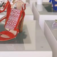 Fashionchick Shoe Launch Party,Riemchensandalen rot