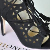 Fashionchick Heels, Wildleder schwarz, Fashionblogger