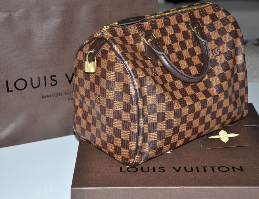 Louis Vuitton Speedy 30, Damier Ebene Canvas