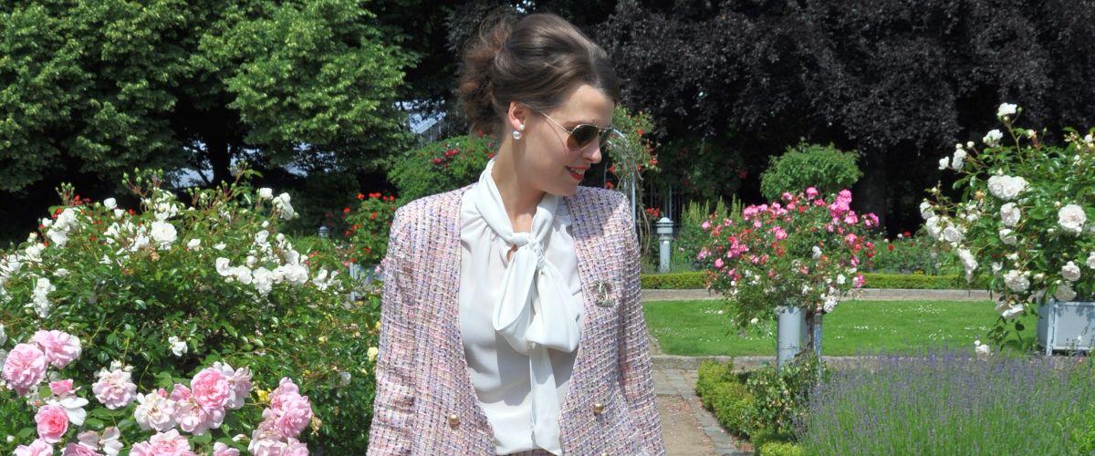 #OOTD: PINK FLOWERS MEETS BOUCLÈ