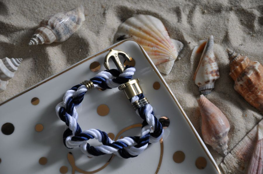 Paul Hewitt Anker, Armband,blau, weiß