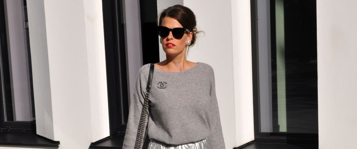 #OOTD: CASHMERE MEETS SILVER