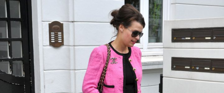 The pink Couture Bouclèjacket from Claire B. Shaeffer