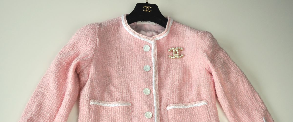 The little pink Couture Bouclèjacket from Claire B. Shaeffer