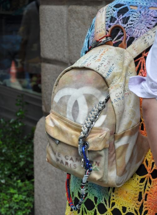 Chanel Rucksack, Multicolor, Streetstyle