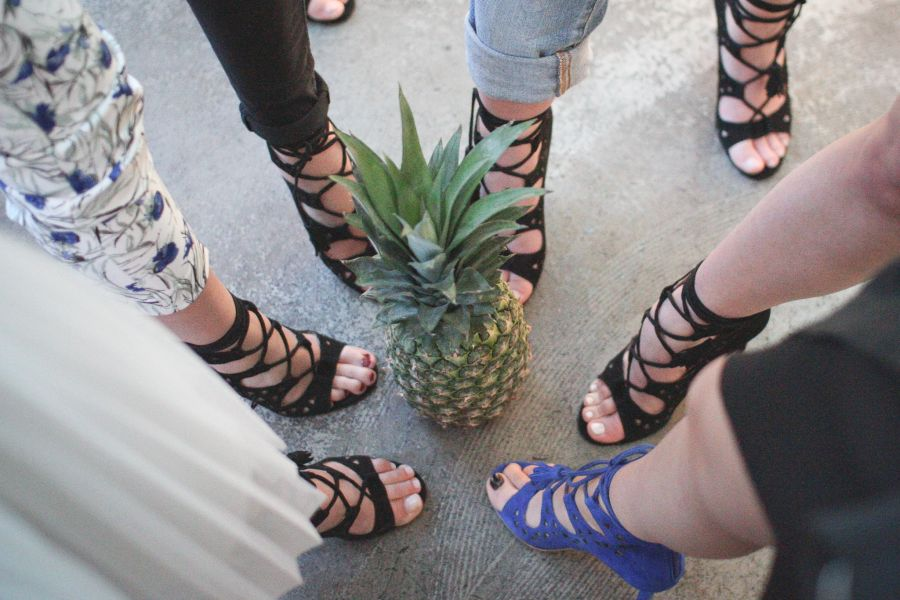 Fashionchick Shoe Launch Party, Riemchensandalette