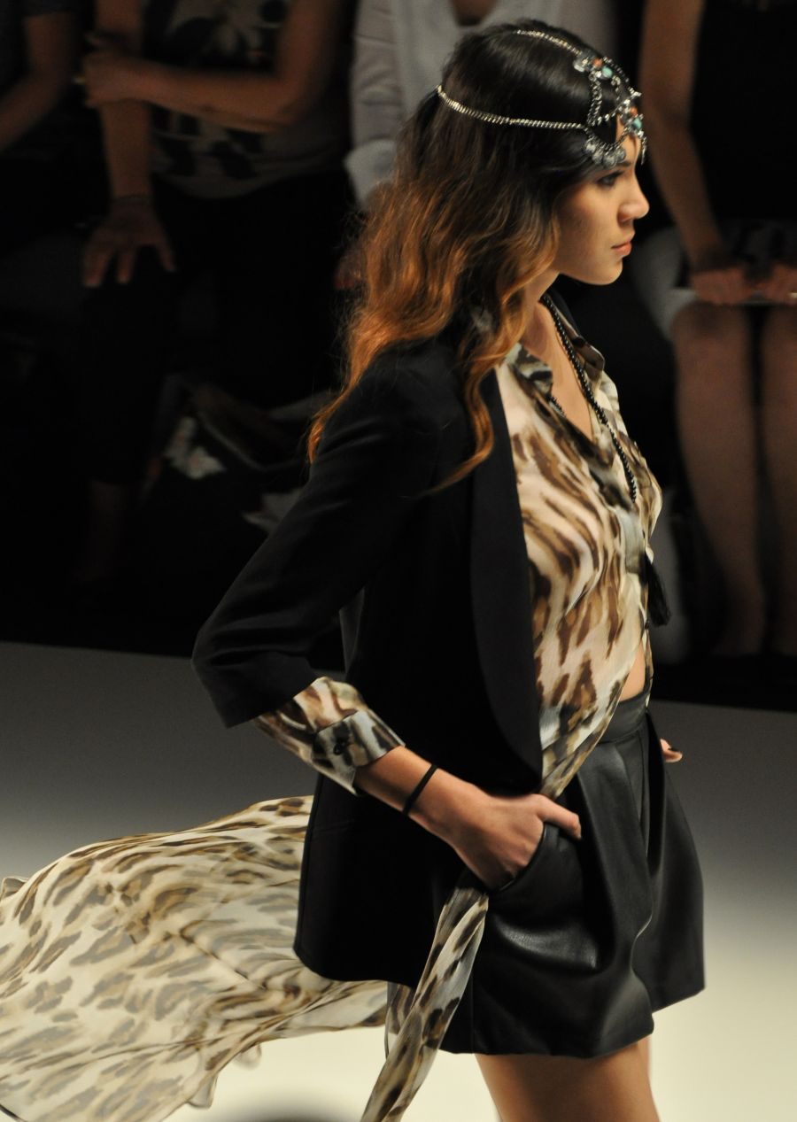 Mercedes Benz Fashion Week 2015, Dimitri Fashionshow, Leopard