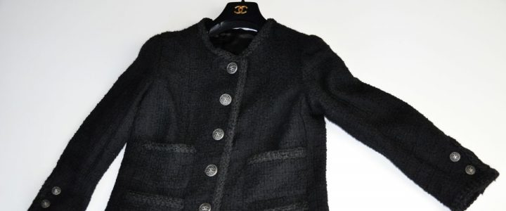 The black Couture Bouclèjacket from Claire B. Shaeffer