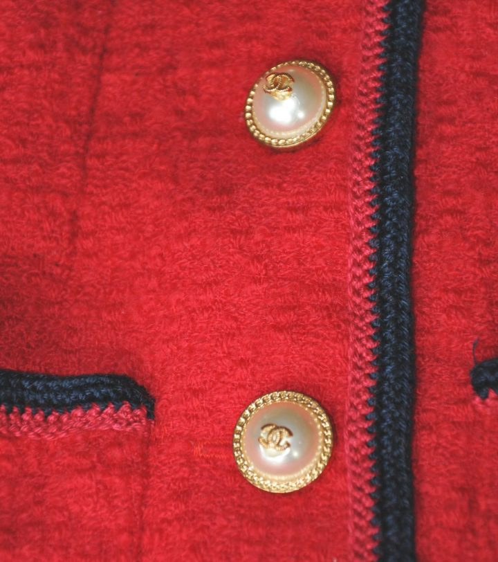 The little red Couture Bouclèjacket from Claire B. Shaeffer